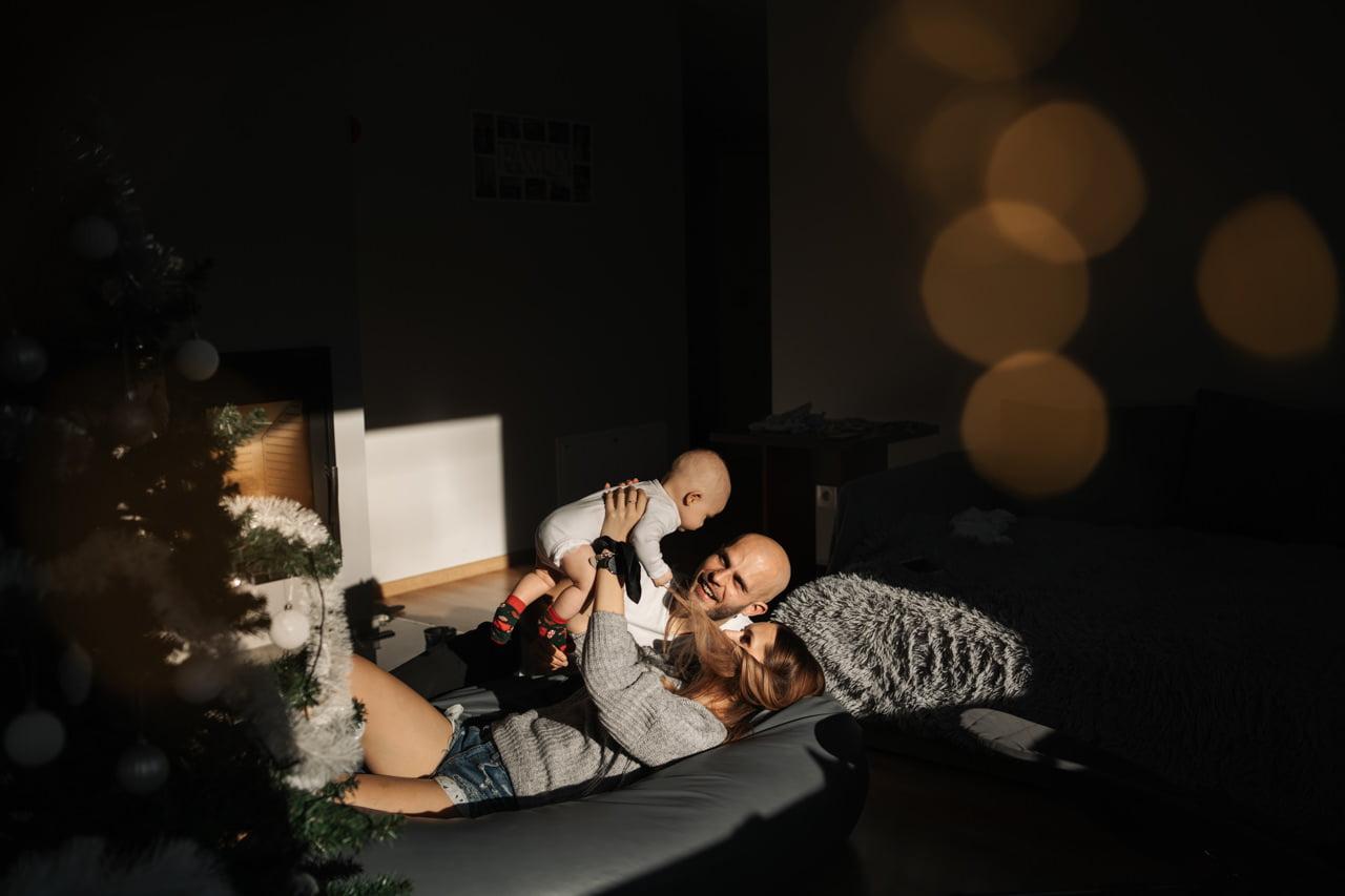 sesja niemowlęca w domu